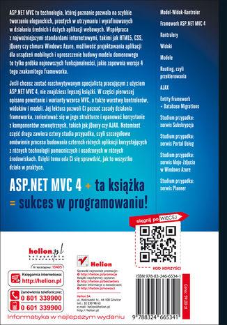 Tył okładki książki/ebooka ASP.NET MVC 4. Programowanie aplikacji webowych