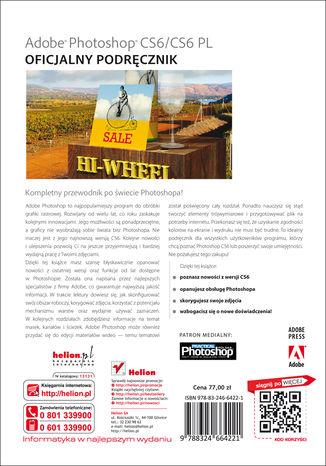 Tył okładki książki/ebooka Adobe Photoshop CS6/CS6 PL. Oficjalny podręcznik