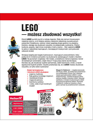 Tył okładki książki LEGO. Księga przygód. Wydanie II. Kosmiczne podróże, piraci, smoki i jeszcze więcej!