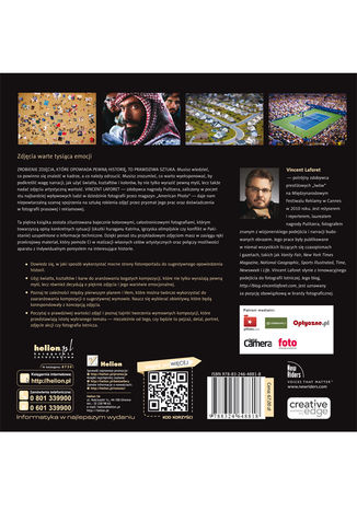 Tył okładki książki/ebooka Opowieści w obiektywie. Świat okiem Vincenta Laforeta