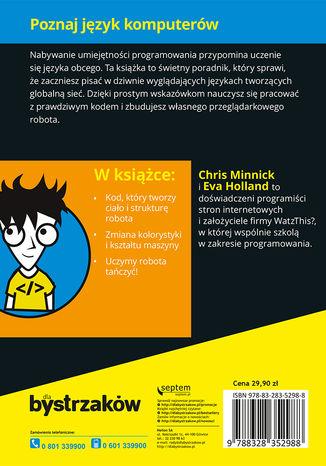 Tył okładki książki/ebooka Podstawy programowania dla młodych bystrzaków