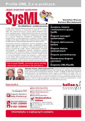 Tył okładki książki Język inżynierii systemów SysML. Architektura i zastosowania. Profile UML 2.x w praktyce