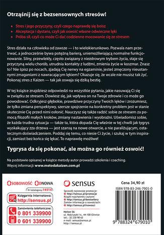 Tył okładki książki/ebooka Pokonaj stres z Kaizen