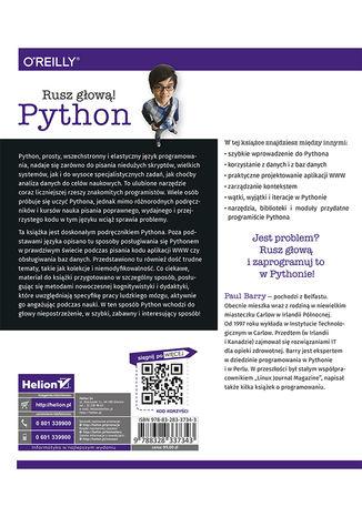 Tył okładki książki Python. Rusz głową! Wydanie II