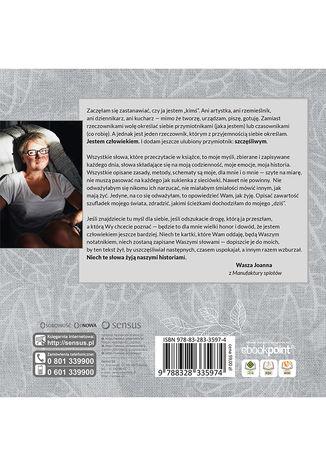 Tył okładki książki/ebooka Manufaktura codzienności