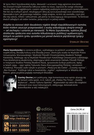 Tył okładki książki/ebooka Na każdy temat z Marią Szyszkowską