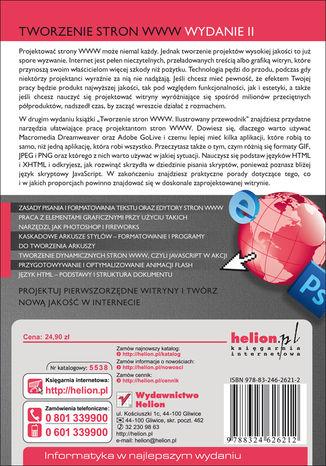 Tył okładki książki Tworzenie stron WWW. Ilustrowany przewodnik. Wydanie II