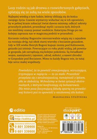 Tył okładki książki/ebooka Gospoda pod Bocianem