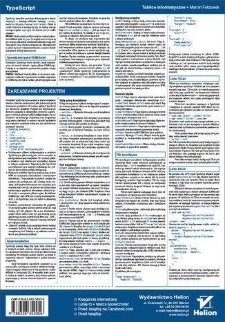 Tył okładki książki/ebooka Tablice informatyczne. TypeScript