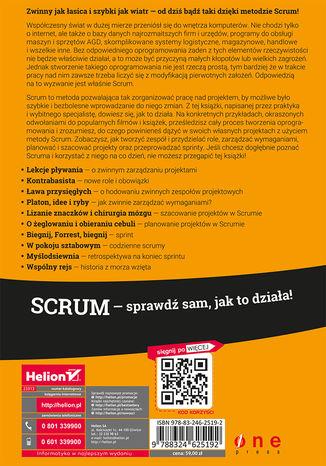 Tył okładki książki Scrum. O zwinnym zarządzaniu projektami. Wydanie II rozszerzone