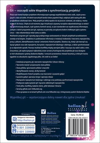 Tył okładki książki/ebooka Git. Rozproszony system kontroli wersji