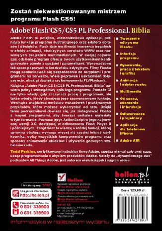 Tył okładki książki Adobe Flash CS5/CS5 PL Professional. Biblia