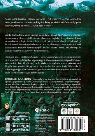 Tył okładki książki/ebooka Kroniki Obernewtyn. Tom pierwszy: Obernewtyn
