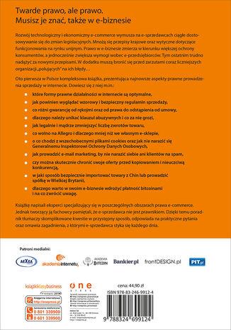 Okładka książki Prawo w e-biznesie. Wszystko, co musisz wiedzieć, żeby prowadzić e-biznes i spać spokojnie