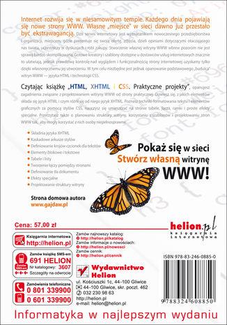 Tył okładki książki/ebooka HTML, XHTML i CSS. Praktyczne projekty