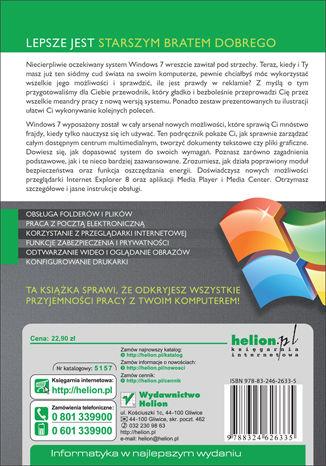 Tył okładki książki Windows 7 PL. Ilustrowany przewodnik