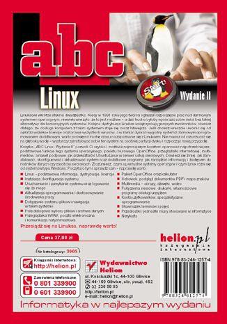 Tył okładki książki/ebooka ABC Linux. Wydanie II