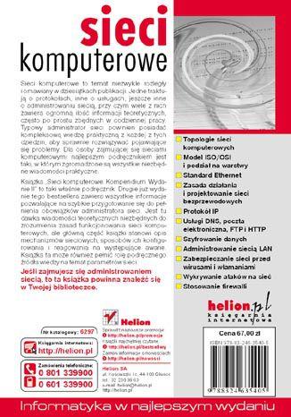 Tył okładki książki/ebooka Sieci komputerowe. Kompendium. Wydanie II
