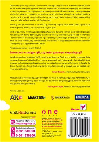 Tył okładki książki Start-up po polsku. Jak założyć i rozwinąć dochodowy e-biznes