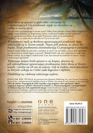 Tył okładki książki Oczekuj cudów! Sekretna moc tkwi w Tobie