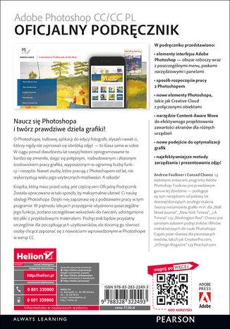 Tył okładki książki/ebooka Adobe Photoshop CC/CC PL. Oficjalny podręcznik