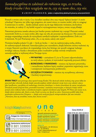 Tył okładki książki/ebooka Nie tłumacz się, działaj! Odkryj moc samodyscypliny