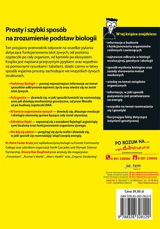 Tył okładki książki/ebooka Biologia dla bystrzaków. Wydanie II