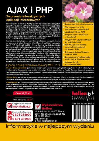 Tył okładki książki/ebooka AJAX i PHP. Tworzenie interaktywnych aplikacji internetowych. Wydanie II