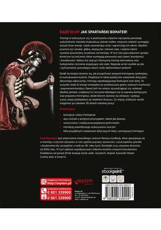Tył okładki książki/ebooka Trening spartańskiego wojownika. Filmowa muskulatura w 30 dni