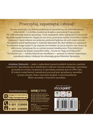 Tył okładki książki/ebooka 140 sekretów Mistrza Sprzedaży