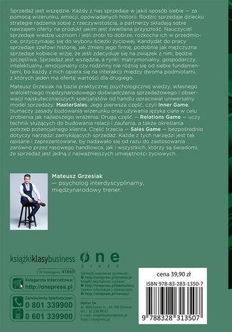Tył okładki książki/ebooka Psychologia Sprzedaży - droga do sprawczości, niezależności i pieniędzy