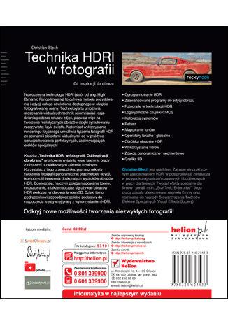 Tył okładki książki/ebooka Technika HDRI w fotografii. Od inspiracji do obrazu