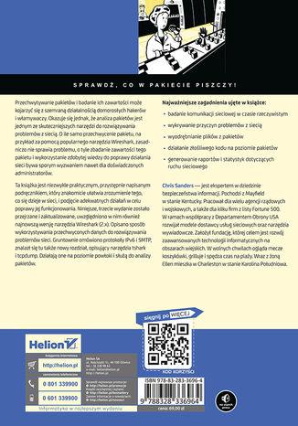 Tył okładki książki/ebooka Praktyczna analiza pakietów. Wykorzystanie narzędzia Wireshark do rozwiązywania problemów związanych z siecią. Wydanie III