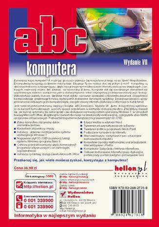 Tył okładki książki/ebooka ABC komputera. Wydanie VII