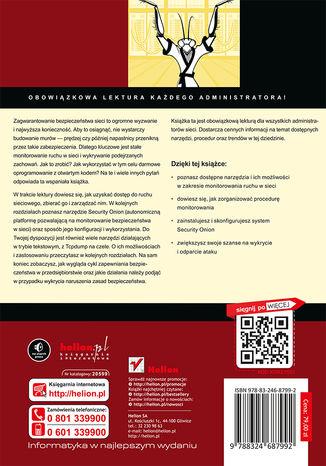 Tył okładki książki/ebooka Wykrywaj i reaguj. Praktyczny monitoring sieci dla administratorów