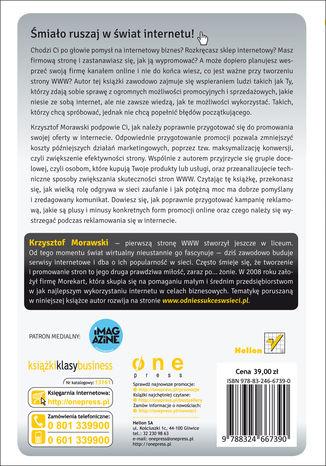 Tył okładki książki/ebooka Odnieś sukces w sieci! Praktyczny przewodnik po e-marketingu dla małych i średnich firm