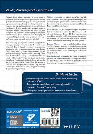 Tył okładki książki/ebooka Analizy Business Intelligence. Zaawansowane wykorzystanie Excela