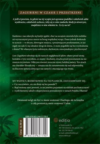 Tył okładki książki/ebooka Lost: Zagubieni i filozofia. Mroczna strona wyspy