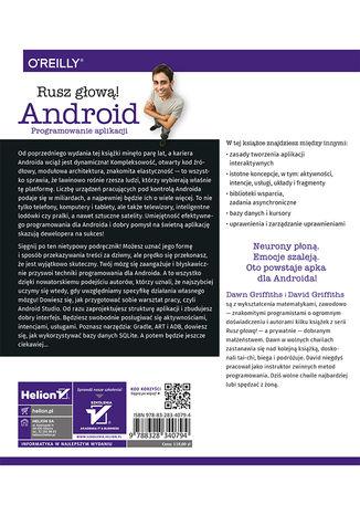 Tył okładki książki/ebooka Android. Programowanie aplikacji. Rusz głową! Wydanie II