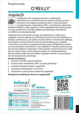 Tył okładki książki/ebooka AngularJS