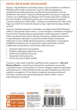 Okładka książki Odporność. Inteligencja emocjonalna. Harvard Business Review