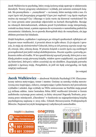 Tył okładki książki/ebooka Rozmyślnik Jacka Walkiewicza. Zainspiruj się do działania!