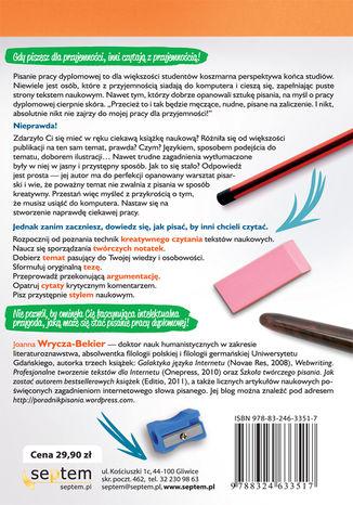 Okładka książki Kreatywna praca dyplomowa. Jak stworzyć fascynujący tekst naukowy