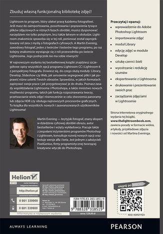 Tył okładki książki Adobe Photoshop Lightroom CC i Lightroom 6. Podręcznik dla fotografów