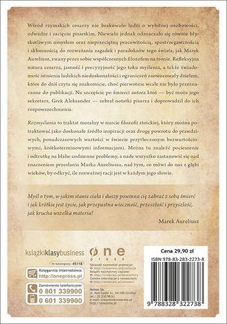 Tył okładki książki Rozmyślania