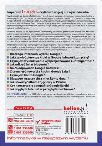 Tył okładki książki Aplikacje Google. Wykorzystaj potencjał darmowych narzędzi