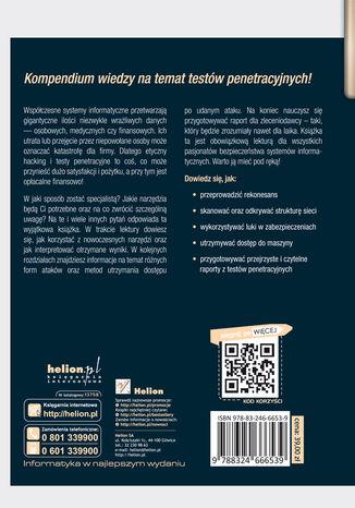 Tył okładki książki/ebooka Hacking i testy penetracyjne. Podstawy