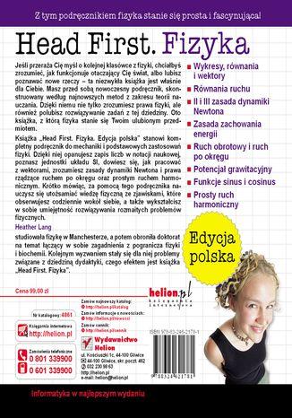Tył okładki książki/ebooka Head First. Fizyka. Edycja polska