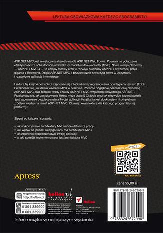 Tył okładki książki/ebooka ASP.NET MVC 4. Zaawansowane programowanie
