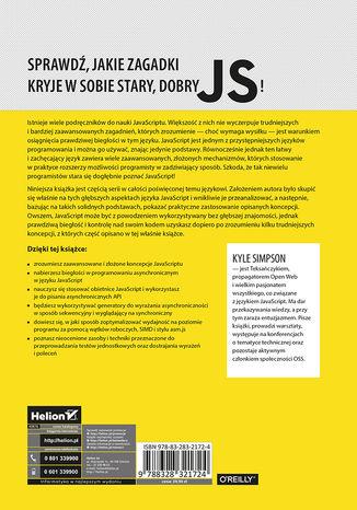 Tył okładki książki Tajniki języka JavaScript. Asynchroniczność i wydajność